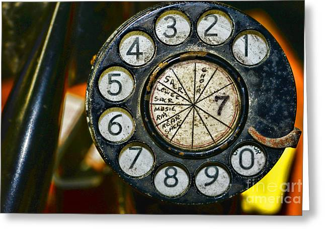 The Rotary Dial Greeting Card by Paul Ward