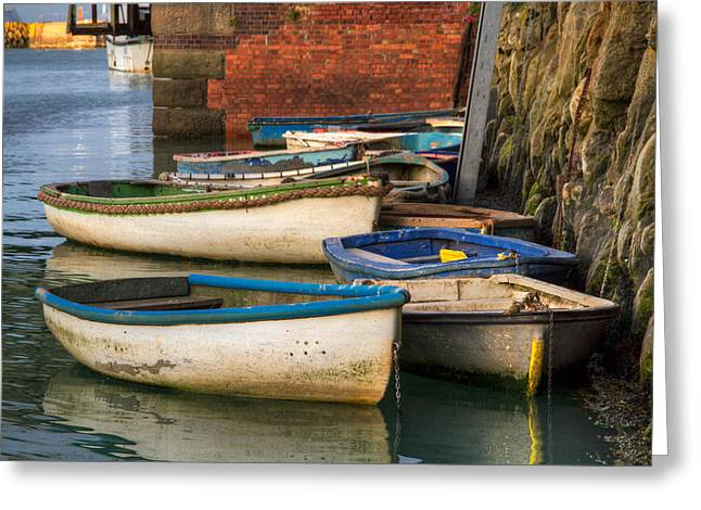 Greeting Card featuring the photograph The Rowboats Of Folkestone by Tim Stanley