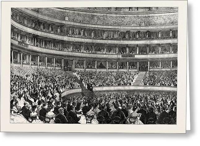 The Royal Albert Hall On A State Occasion Greeting Card by English School