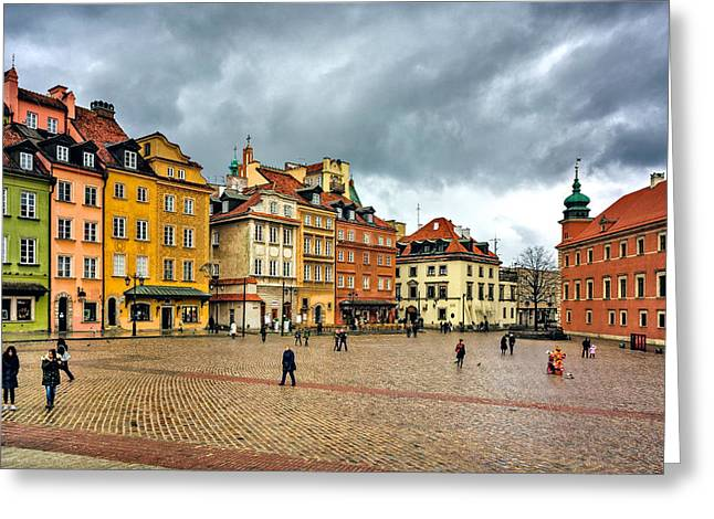 The Royal Castle Square Greeting Card
