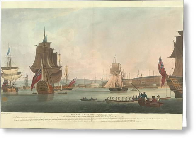 The Royal Dockyard At Portsmouth Greeting Card by British Library