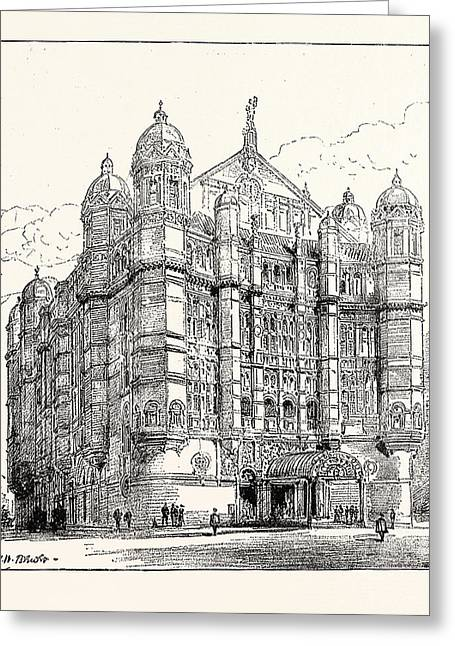 The Royal English Opera House In Cambridge Circus Exterior Greeting Card by English School