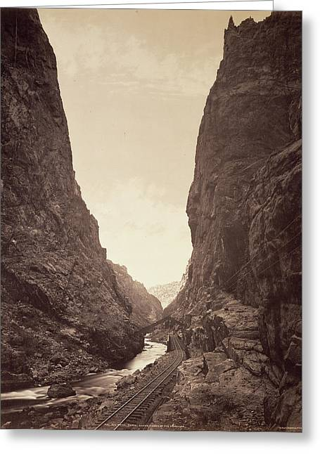 The Royal Gorge, Grand Cañon Of The Arkansas William Henry Greeting Card by Litz Collection