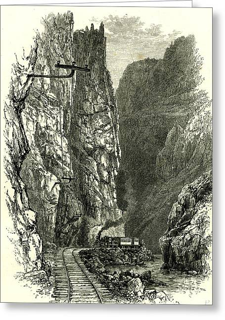 The Royal Gorge Of The Arkansas 1891 Usa Greeting Card by American School