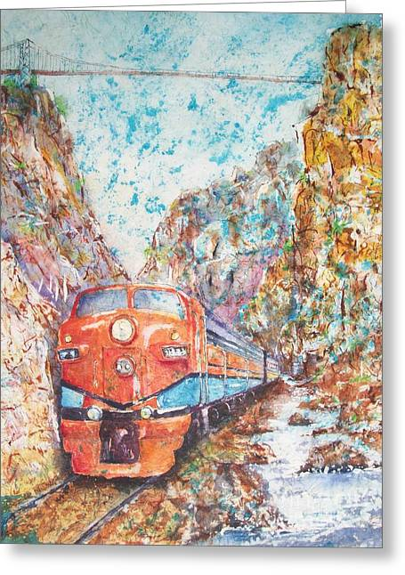 The Royal Gorge Train Greeting Card