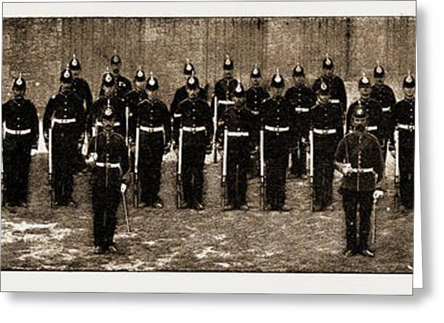 The Royal Guernsey Militia The Detachment In London Greeting Card
