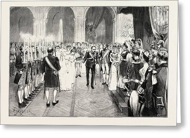 The Royal Marriage At Berlin, Germany Torch-dance Greeting Card by German School