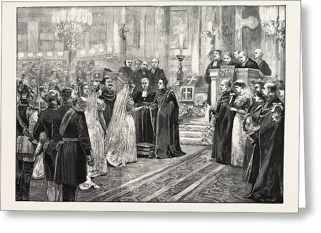 The Royal Marriage At Berlin, Germany Wedding Ceremony Greeting Card by German School