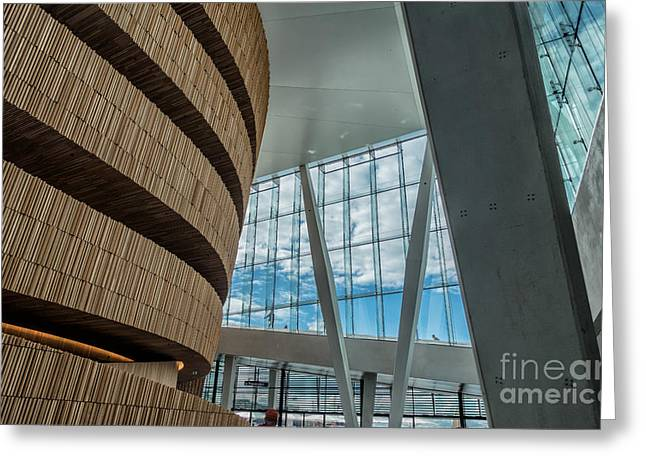 The Royal National Opera House  Interior In Oslo Norway Greeting Card
