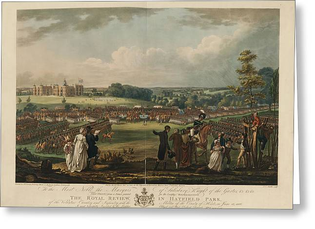 The Royal Review In Hatfield Park Greeting Card by British Library