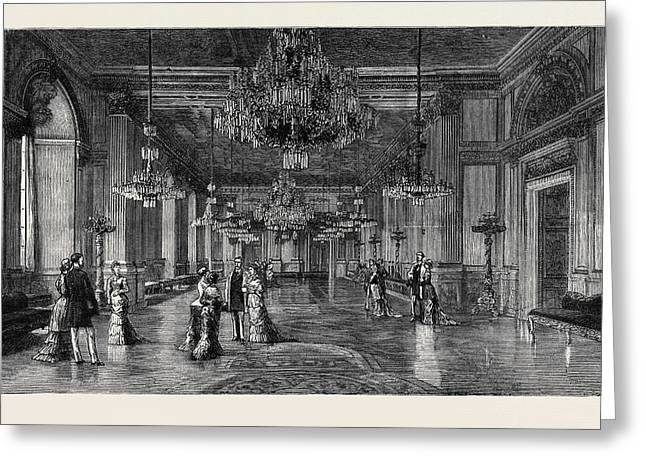 The Royal Silver Wedding At Stockholm The White Sea Saloon Greeting Card