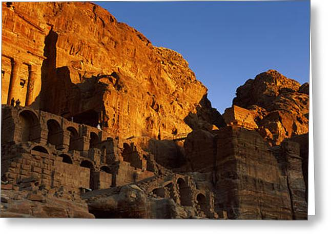 The Royal Tombs At Petra, Wadi Musa Greeting Card