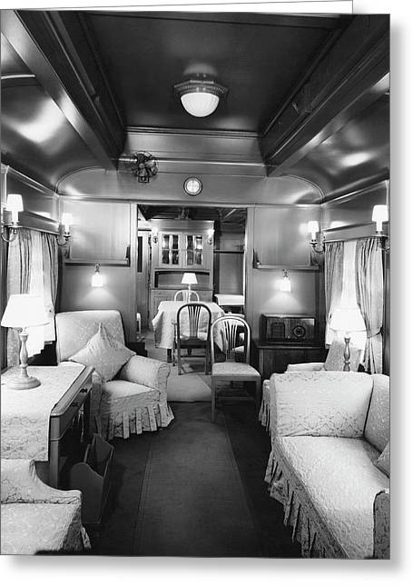 The Royal Train Car Greeting Card