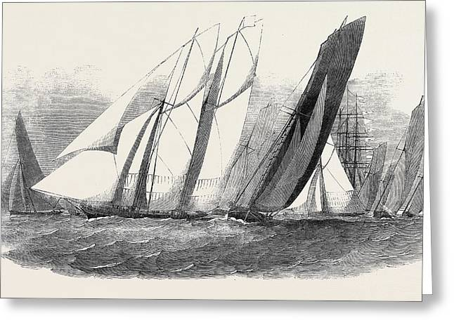 The Royal Victoria Yacht Squadron Regatta Greeting Card