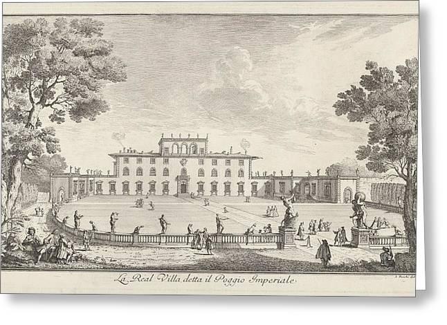 The Royal Villa Called Il Poggio Greeting Card