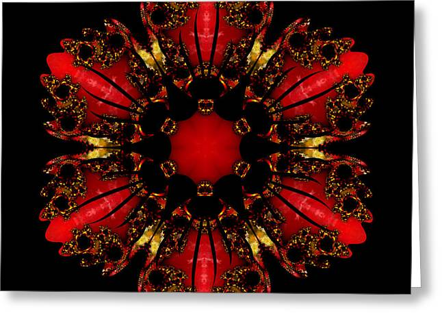 The Ruby Flame Broach Greeting Card by Owlspook