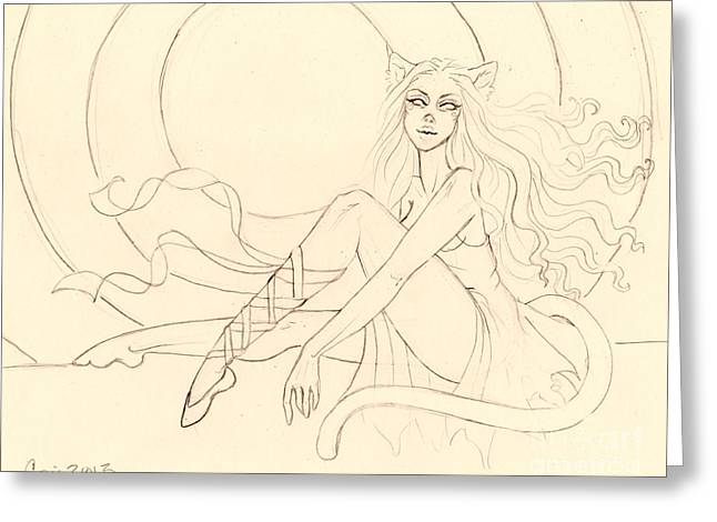 The Ruby Slipper Sketch Greeting Card by Coriander  Shea