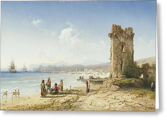 The Ruins Of Chersonesus Crimea Greeting Card by Celestial Images