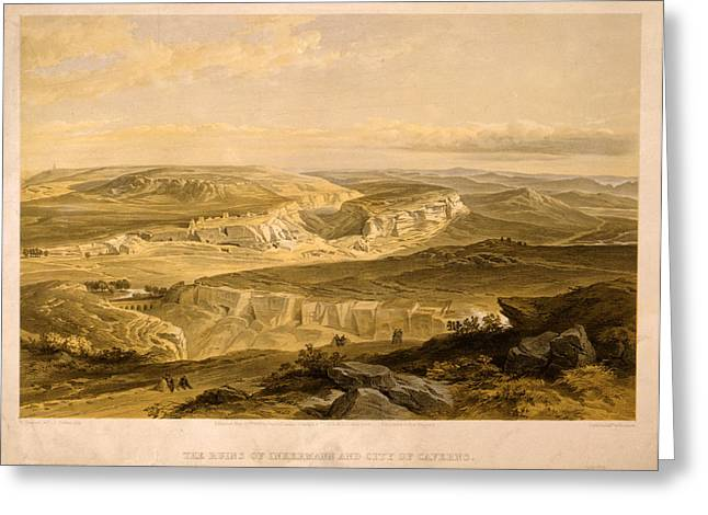 The Ruins Of Inkermann And City Of Caverns  W. Simpson Greeting Card by Litz Collection