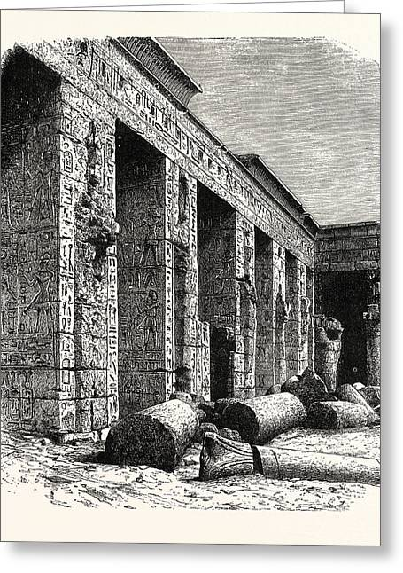 The Ruins Of The Palace Of Rameses IIi., At Medinet Greeting Card by Litz Collection