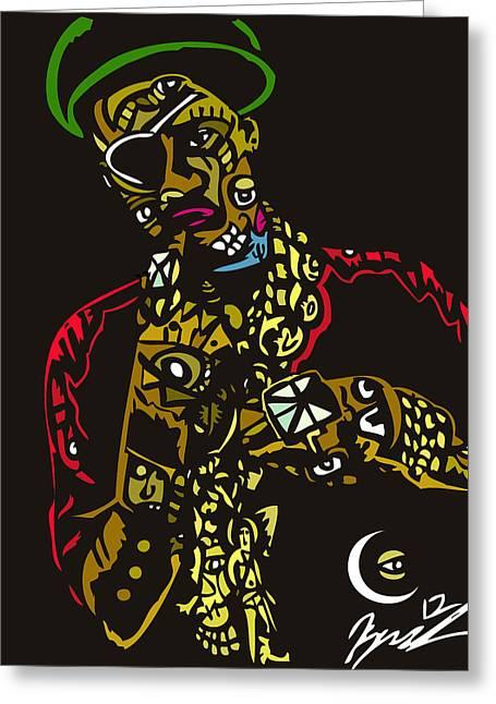 The Ruler Greeting Card by Kamoni Khem