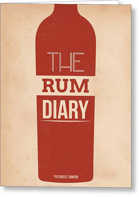 The Rum Diary Greeting Card by Mike Taylor