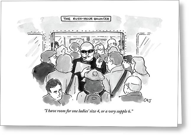 The Rush Hour Bouncer Greeting Card