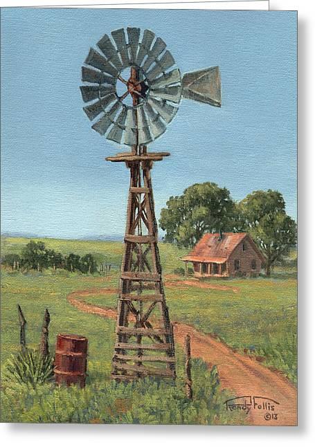 The Rusty Barrel Greeting Card by Randy Follis