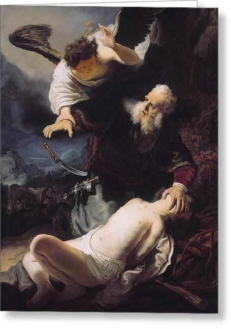 The Sacrifice Of Abraham Greeting Card