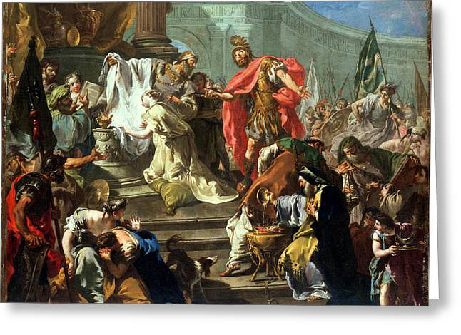 The Sacrifice Of Jephthahs Daughter Greeting Card