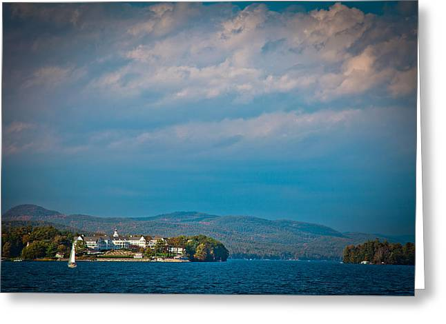 The Sagamore Hotel On Beautiful Lake George Greeting Card by David Patterson
