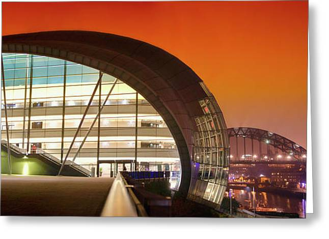 The Sage And River Tyne Illuminated Greeting Card by John Short