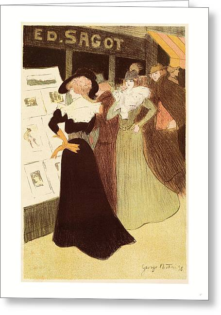 The Sagot Address, French, 1874  1907, 1898 Greeting Card by Bottini, George (1874-1907), French