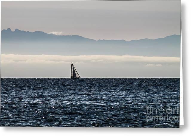 The Sail Boat Horizon Greeting Card