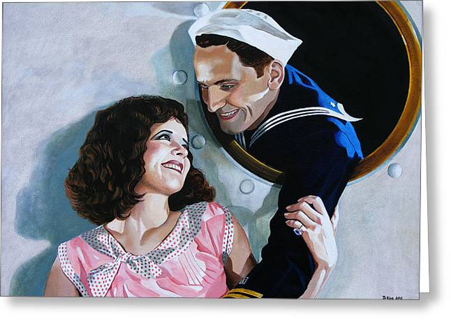 The Sailor's Return - Clara Bow Greeting Card by Jo King