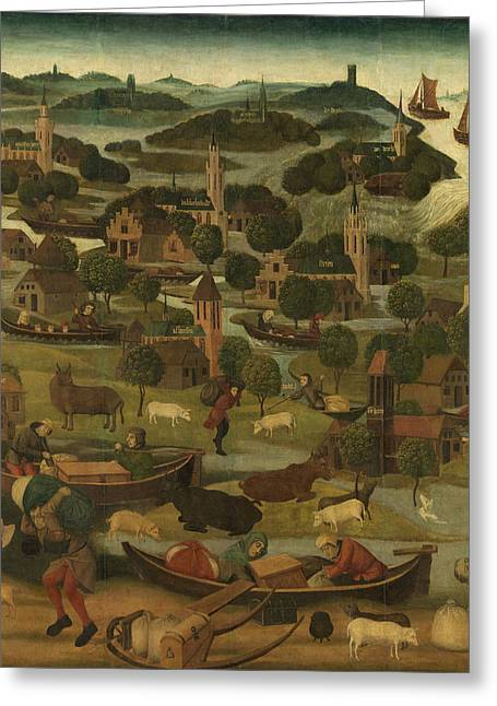 The Saint Elizabeth's Day Flood, Master Of The St Greeting Card by Litz Collection