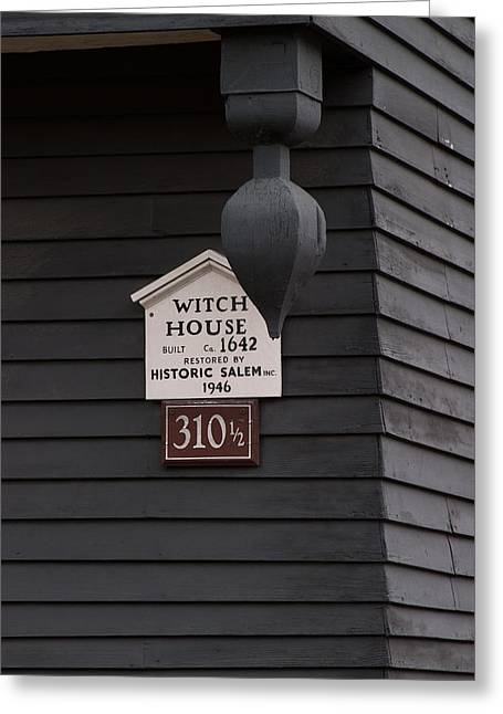 The Salem Massachusetts Witch House Greeting Card by Jeff Folger