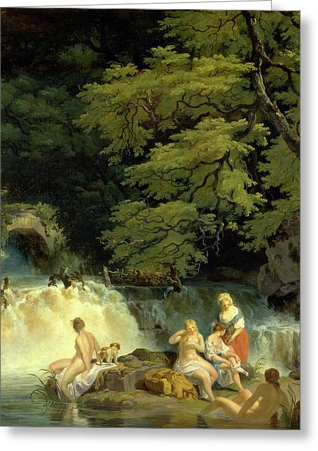 The Salmon Leap, Leixlip The Salmon Leap At Leixlip Greeting Card by Litz Collection
