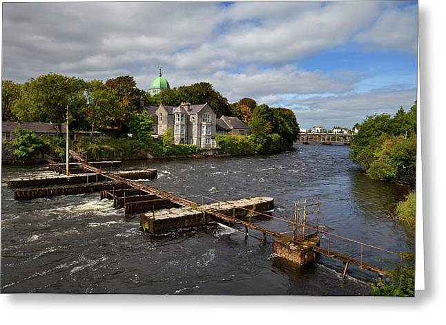 The Salmon Weir On The River Greeting Card by Panoramic Images