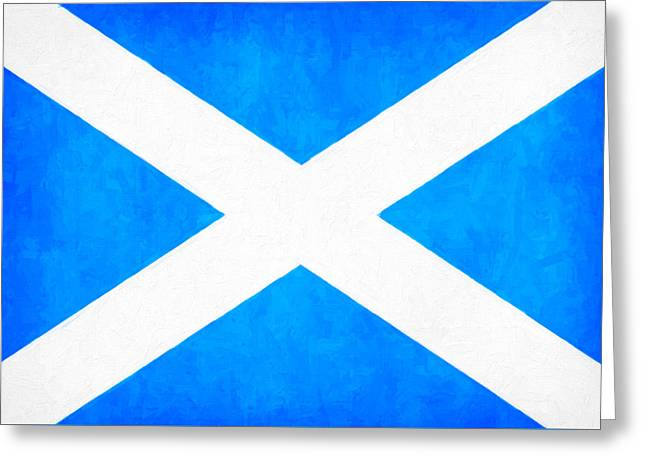 The Saltire - Scotland's National Flag Greeting Card