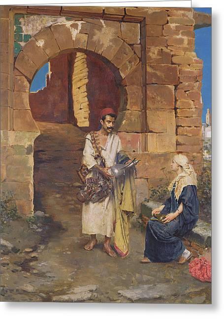 The Samaritan Greeting Card by Rudolphe Ernste