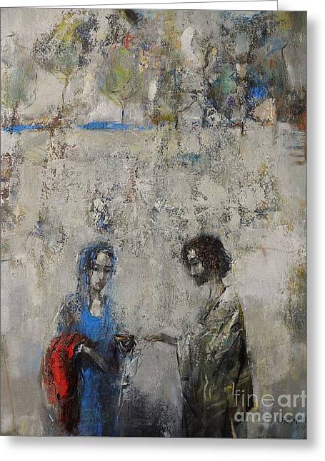 The Samaritan Woman At The Well Greeting Card