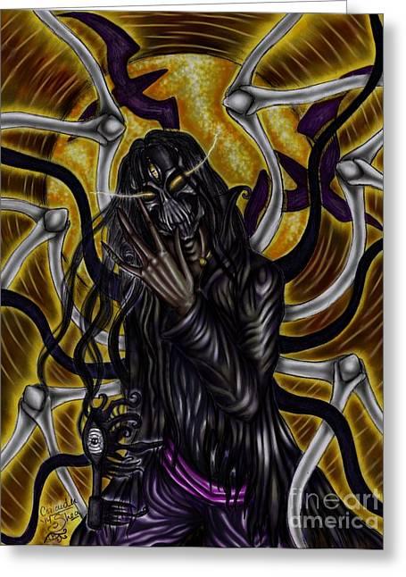 The Samhain King Greeting Card by Coriander  Shea