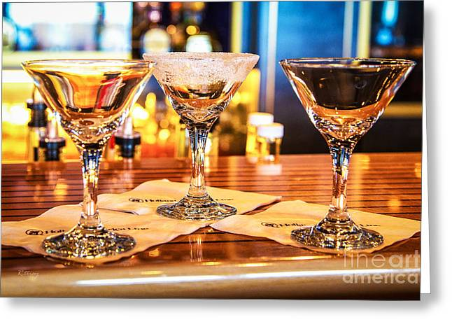 The Martini Sampler Greeting Card by Rene Triay Photography