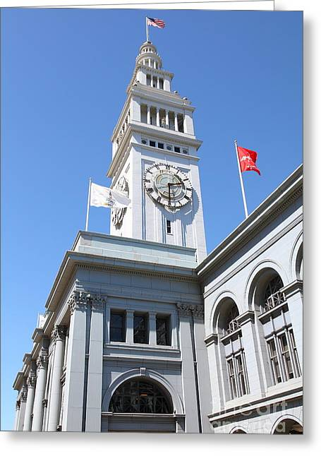 The San Francisco Ferry Building 5d25382 Greeting Card by Wingsdomain Art and Photography