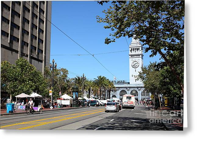 The San Francisco Ferry Building 5d25388 Greeting Card by Wingsdomain Art and Photography
