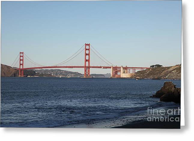 The San Francisco Golden Gate Bridge - 5d20996 Greeting Card by Wingsdomain Art and Photography