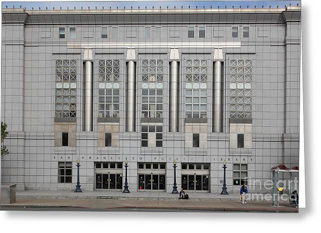 The San Francisco Public Library 5d22599 Greeting Card by Wingsdomain Art and Photography