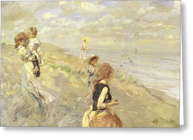 The Sand Dunes Greeting Card by Ettore Tito