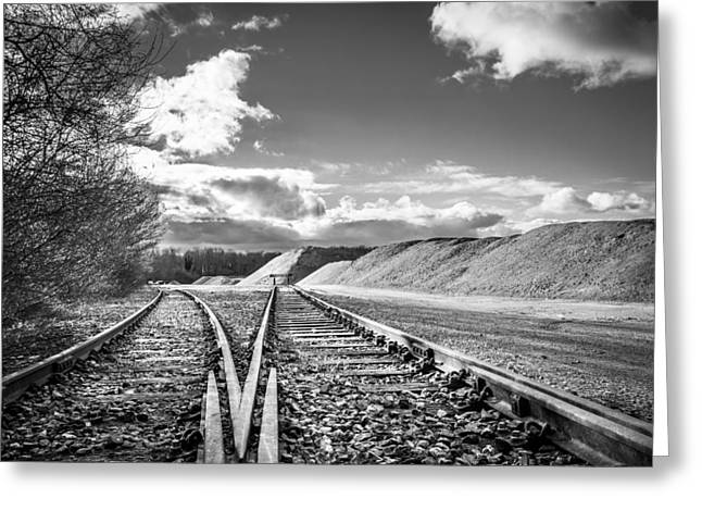The Sand Quarry Tracks. Greeting Card